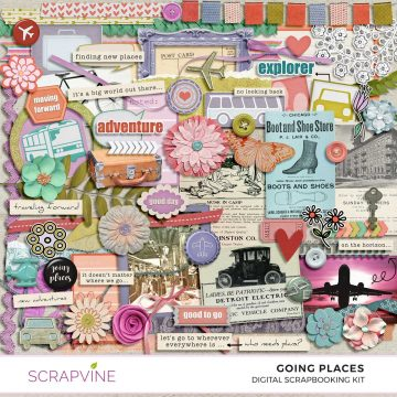 going places digital scrapbook kit