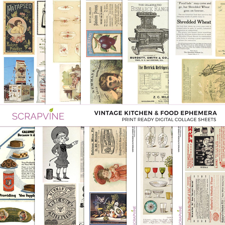 Free Printable Kitchen Scrapbook Paper
